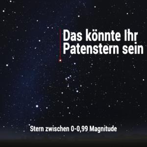 Sternpatenschaft 0-0,99