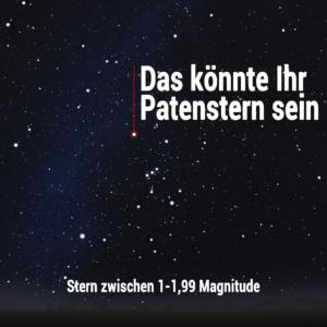 Sternpatenschaft 1-1,99